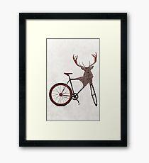 Stag Bike Framed Print