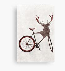 Stag Bike Canvas Print