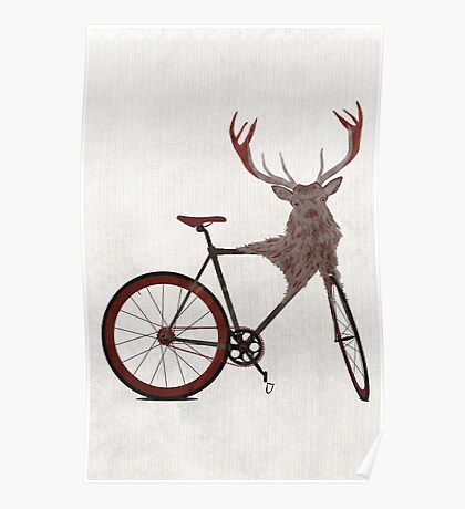 Stag Bike Poster