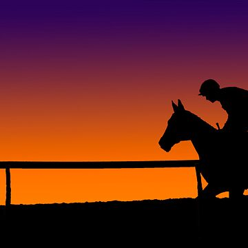 Horse Racing Sunset by loutolou