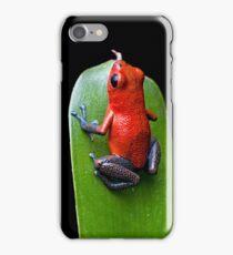 Red poison dart frog iPhone Case/Skin