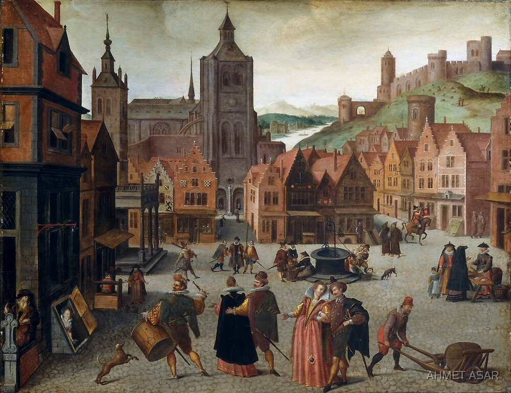 Abel Grimmer The Marketplace in Bergen op Zoom probably 1590 and 1597 by MotionAge Media