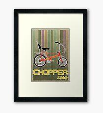 Chopper Bicycle Framed Print