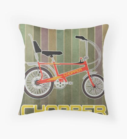 Chopper Bicycle Throw Pillow