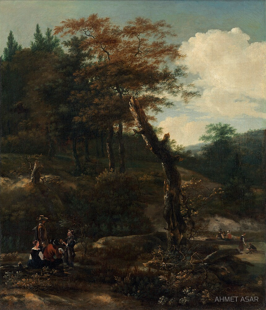 Adam Pynacker Wooded Landscape with Travelers late 1640s by MotionAge Media