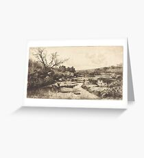 Adolphe Appian Landscape 1870 Greeting Card