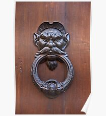 Mustachioed Knocker Poster