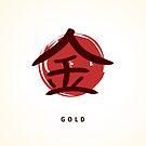 Kanji gold sign by Alejandro Durán Fuentes