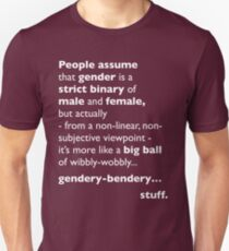 Wibbly-Wobbly, Gendery-Bendery Unisex T-Shirt
