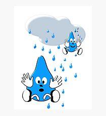 Regen ,regen, Raindrops  Photographic Print
