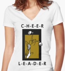 Cheerleader Women's Fitted V-Neck T-Shirt