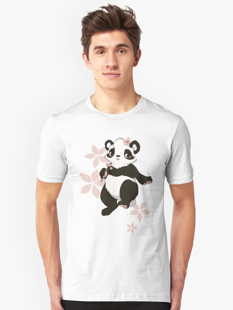 Girl panda with flowers by Tunnelfrog