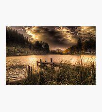 Loch Ard sunset Photographic Print