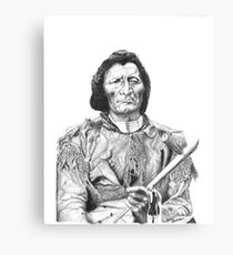 Dull Knife (Pen And Ink) Canvas Print