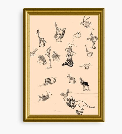 Silly Drawings by a Fool Canvas Print