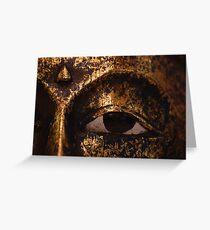 Buddha mask Greeting Card