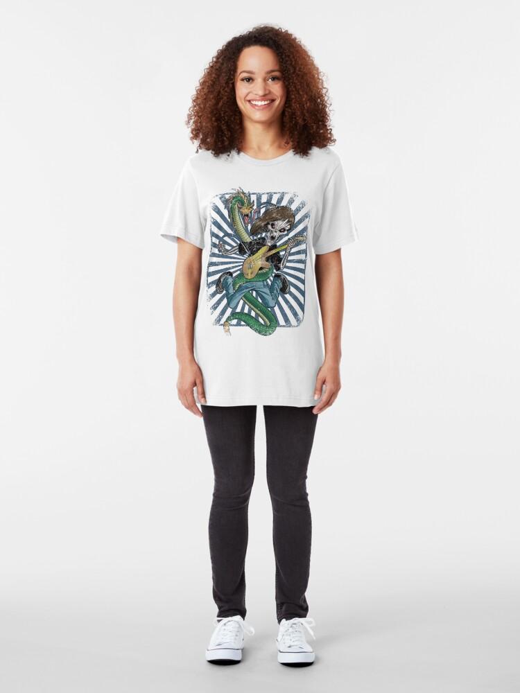 Alternate view of Rock n Roll Destroyer Slim Fit T-Shirt