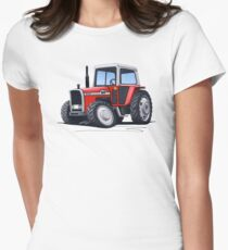 Massey Ferguson 590 Tractor Women's Fitted T-Shirt