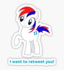 Tweety wants to retweet you! Sticker