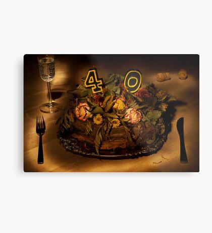 Birthday cake nr 40 Metal Print