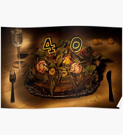 Birthday cake nr 40 Poster