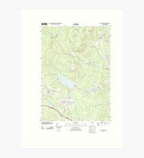 USGS TOPO Map New Hampshire NH New London 20120508 TM Art Print