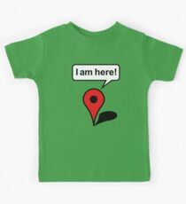 I am here! Google Maps Kids Tee