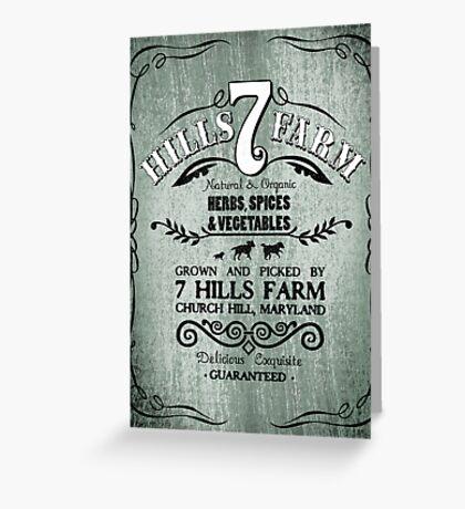 7 HILLS FARM Greeting Card