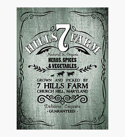 7 HILLS FARM Photographic Print