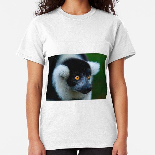 Black & White Lemur Classic T-Shirt
