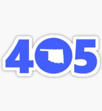 405 Oklahoma Proud Blue Sticker