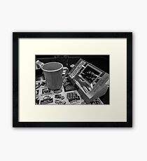 Sci-Fi and Coffee Framed Print