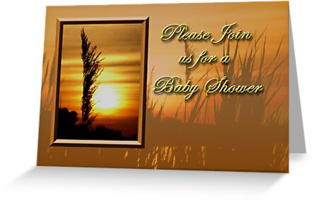 Please Join Us For A Baby Shower Sunset by jkartlife