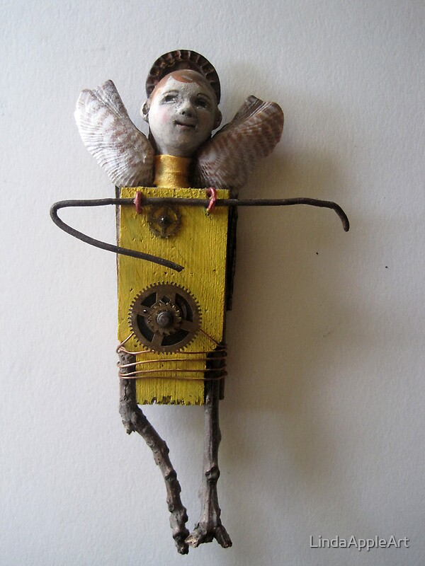 """""""Sun Angel - assemblage altered art doll"""" by LindaAppleArt ..."""