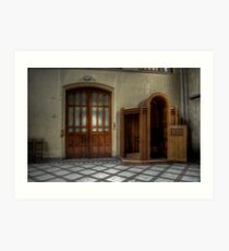 Come in and confess.... Art Print