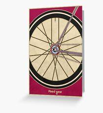 Single Speed Bicycle Greeting Card