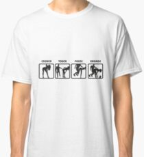 RUGBY SCRUM - STOP TOUCH PAUSE ENGAGE  Classic T-Shirt