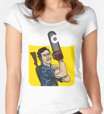 Evil Dead - We Can Do It parody Women's Fitted Scoop T-Shirt