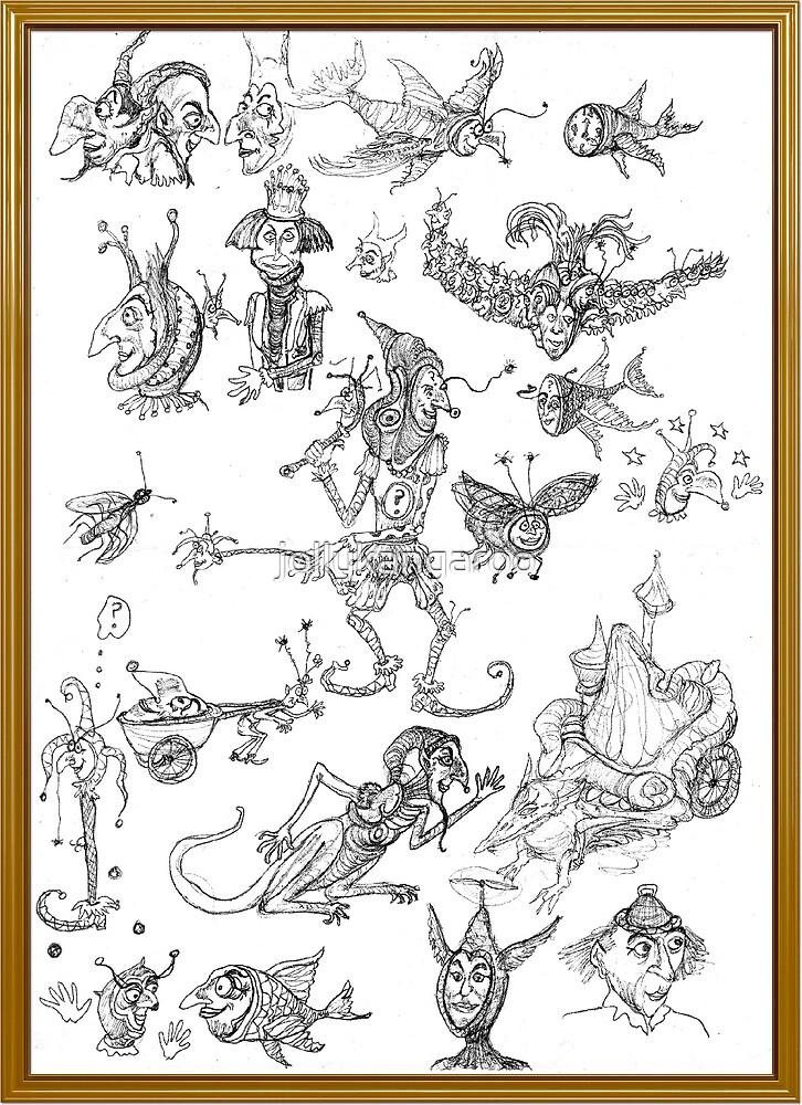 Random doodles by jollykangaroo