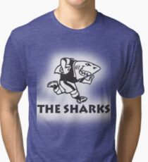 NATAL SHARKS FOR LIGHT SHIRTS SOUTH AFRICA RUGBY SUPER RUGBY Tri-blend T-Shirt