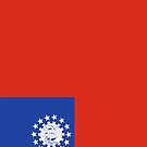 Myanmar Flag by pjwuebker