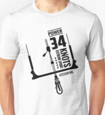 Power 34 Knots Kitesurfing Light T-Shirt