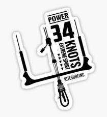 Power 34 Knots Kitesurfing Light Sticker