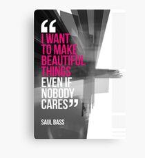 Creative Quote Design 001 Saul Bass Canvas Print