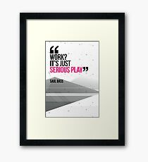 Creative Quote Design 002 Saul Bass Framed Print