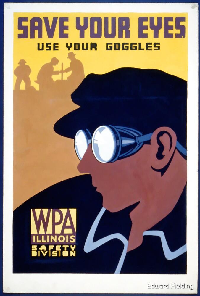Steam Punk WPA Vintage Safety Poster by Edward Fielding