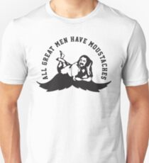 Defending Awesome - All Great Men Have Moustache Ron Jeremy T-Shirt