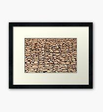 wall of gabions Framed Print