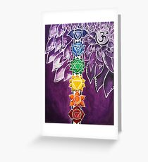 Chakras Greeting Card