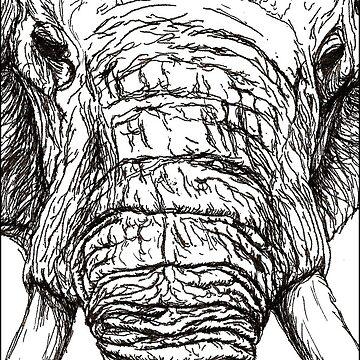 Elephant  by joenerdyart